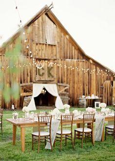 Really like the barn wedding
