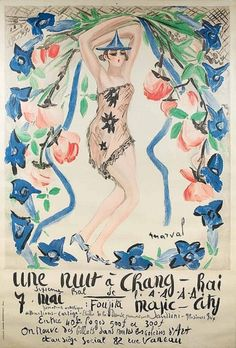 Jacqueline Marval, Poster: Une nuit à Chang-Rai, Magic City, Sixième bal de l'A.A.A.A. (Aide Amicale aux Artistes), Paris. on ArtStack #jacqueline-marval #art
