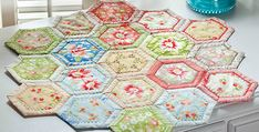 Deep Rich Colors Will be Lovely Too! Hexies are so much fun and this table mat is a great way to use them, especially if you haven't made hexies before. It's a project that allows you to try out hexies without having to make a gazillion of them. Plus, the stitching is done by machine. …