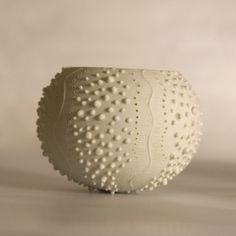 ceramic sea urchin candle holder. porcelain tea light delight Collection - ceramic tea light holder N.2 by Wapa Studio.