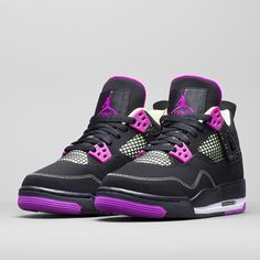 Air Jordan 4 in Black, Pink, and Light Green coming this Spring 2015. Get a detailed look at this upcoming Jordan Retro for Girls on sneakernews.com