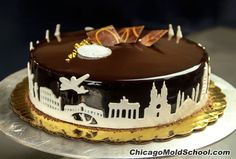 """Entremets by Chef Pedro Gomez using """"World Class"""" Cake Liner™ from The Chicago School of Mold Making. See the Video: https://youtu.be/O4K0w0zlibM"""
