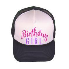 af232cda8ed Toddler Trucker Hat - Birthday Girl - Kid s Trucker Cap - Monogrammed Trucker  Hat - Baseball
