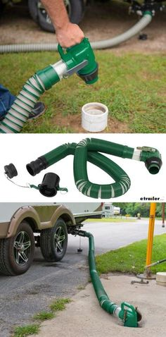 Waste Master RV Sewer Hose w/ Camlock Fittings, Nozzle, and Endcap - Long Lippert Components RV Camping List, Camping Car, Camping World, Camping Hacks, Camping Ideas, Retro Camping, Camping With Horses, Camping Store, Half Moon Bay