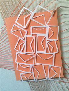 油分物。M A I L. > paper cut out mail news art string exacto knife blade