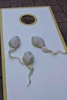 Juego de cornhole para espermas