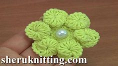 How to Crochet 3D Flower Tutorial 166 Demo Version