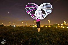 Moodhoops Custom LED Hula Hoop    nicolehoops311:    Me with my led hoops looks like a butterfly :) photographer: Blain Peckmann