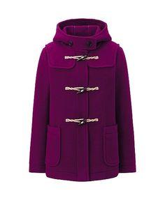 Wool Blended Short Duffel Coat -- prettiest coat!