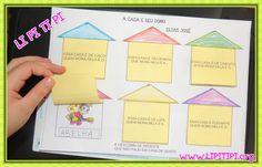 Atividade Lúdica Texto A Casa e Seu Dono Auto Ditado Education English, Interactive Notebooks, Happy Kids, Phonics, Professor, Literacy, 3 D, School, Planner Ideas
