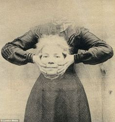 Freaky: Images like this were the precursor to picture manipulation software like Photoshop and Instagram