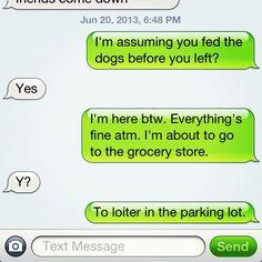 Sibling communication.
