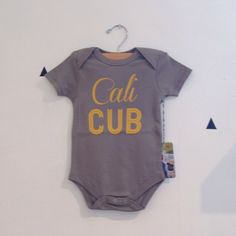 Cali Cub Bodysuit in Gray by Weestructed for Stripes Boutique