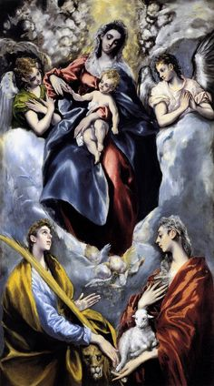 El Greco - The Virgin and Child with St martina and Stagnes