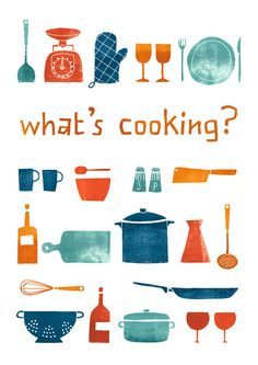 What's cooking, kitchen print by Leen's. mid-century-esque What's cooking, kitchen print by Leen's. Kitchen Prints, Kitchen Art, Kitchen Design, Kitchen Interior, Chef D Oeuvre, Oeuvre D'art, Graphic Design Illustration, Illustration Art, Stencil