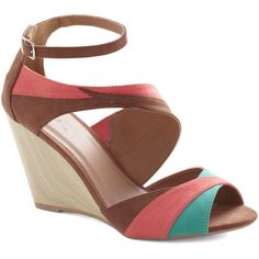 Sun and Sandalwood Wedge ($45) ❤ liked on Polyvore