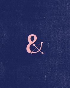 Long live the ampersand. And there's a bow and arrow for me being a Sagittarius ;)