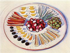 Wayne Thiebaud. Plate of Hors d'oeuvres. 1963.