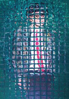 """""""Giovane impiegato"""" acrilico su tela, cm 70 x 50, di Paolo Avanzi (www.paoloavanzi.com)"""