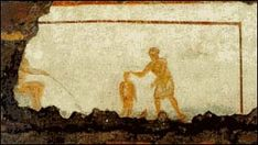 This painting found in Catacombs of St. Callixtus in Rome is probably the oldest paintings ever known in Christian History.
