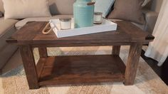Rustic Coffee Table by SimpleTouchDesignsCo on Etsy
