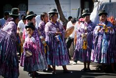 Colorful Costumes from Sucre, Bolivia