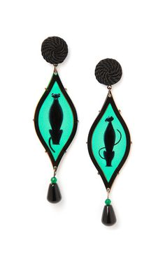 The pantera, seduzione deco earrings by ANNA E ALEX for Preorder on Moda Operandi