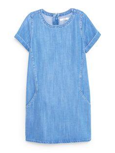 for the Liesel pattern. Mango Soft Denim Dress in Medium Blue Simple Summer Dresses, Trendy Dresses, Casual Dresses, Summer Sundresses, Denim Dresses, Sun Dresses, Dress Summer, Midi Dresses, Womens Denim Dress