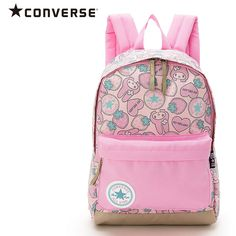 Hello Kitty x Converse Kids Backpack Large SANRIO JAPAN Size  27 x 14 x  Capacity  Materials  Polyester Condition  Brand New 1 outside zip pocket 1  inside ... 4da6c0cb646da