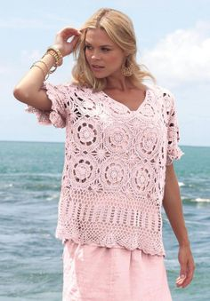 Crochetemoda top with motif diagram
