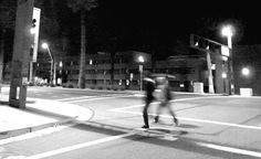 """Urban Nightscape"" (Black and white street photography by Lin Haring)...........................................................................................Moving through the deserted city: An urban study of isolation in black and white. At the heart of the city always lie its people..."