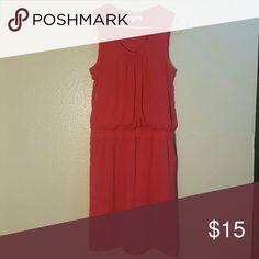 Ann Taylor LOFT sheath sleeveless dress size S Size small, salmon color LOFT Dresses Midi
