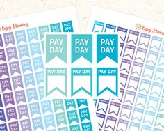 Pay Day Printable Planner Stickers Flag Pay Day Stickers Flag Planner Stickers Pay Day Printable Pay Day Flag Winter Stickers Flag stickers