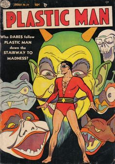 comicbookcovers:  Plastic Man #39, January 1953, cover by Alex Kotzky