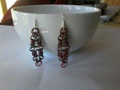 Bike chain earrings, courtesy of Beaducation tutorial