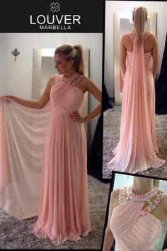 #moda#louver#marbella#fashion#vestido#griego#rosapalo#pedreria