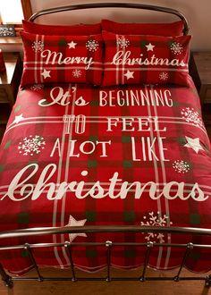 Christmas Slogan Print Duvet Set £25-35 Matalan