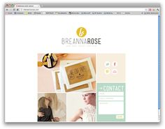 really great portfolio/blog design:  http://imbreannarose.com/  SIDEBAR