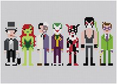 Batman's Villians Cross Stitch!  :)