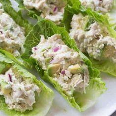 Avocado Chicken Salad Lettuce Wraps   tastesbetterfromscratch.com