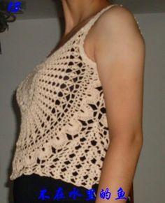 Katia Ribeiro Moda & Decoração Handmade: Saída de praia em crochê com passo a passo