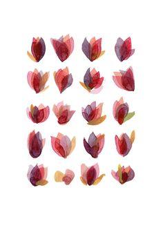 Rose petals  giclee print watercolor painting  von LouiseArtStudio