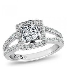 Passion Stone, 14K White Gold Semi-Mount, 1/2 ctw. - by Samuels Jewelers