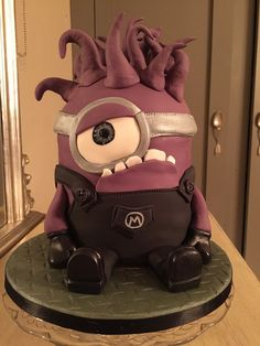 Purple Minion birthday cake