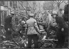 Bergen etter brann Brannstrøket omkring Det gamle Teater 29. oktober 1944,  Institusjon: Riksarkivet Arkivnavn: NTBs krigsarkiv