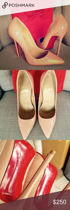 SEXY RED SOLE BEIGE STILETTOS GORGEOUS!!! Very Sexy Red Soul Beige size 6 new never worn no box no returns in excellent condition. I have 2 pairs but I am keeping one pair. NOT REAL Louboutin but so SEXY CHIC to add to your wardrobe. Shoes Heels