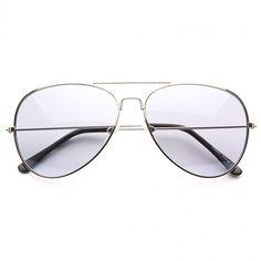 Cheap Aviator Sunglasses | Classic 60mm Color Tint Lens Aviator Sunglasses | BleuDame.com