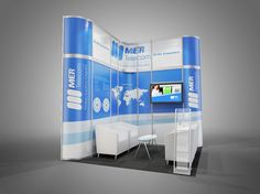 Octanorm system render for Mer Telecom's stand