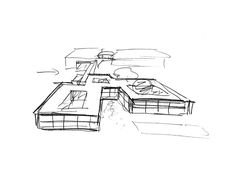 David Chipperfield Architects – Ernsting Service Centre Sketch
