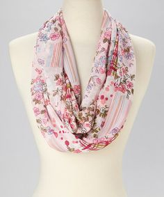 This Pink Plaid Garden Infinity Scarf by Neli Hamilton is perfect! #zulilyfinds